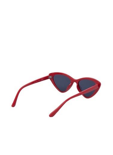 Pieces Güneş Gözlüğü Kırmızı